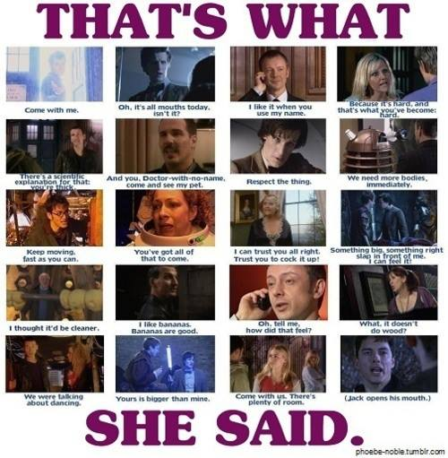 Doctor Who perverted humor