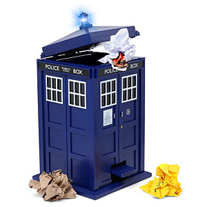 Doctor Who Trash Bin, Think Geek $90