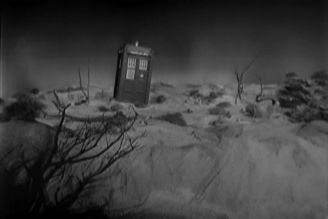 "The opening scene of ""The Unearthly Child"", the first ever Doctor Who episode."