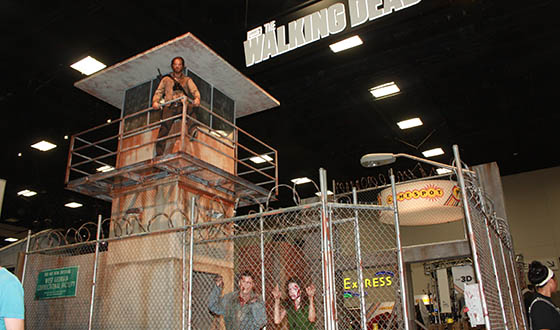 AMC's The Walking Dead booth, SDCC2013