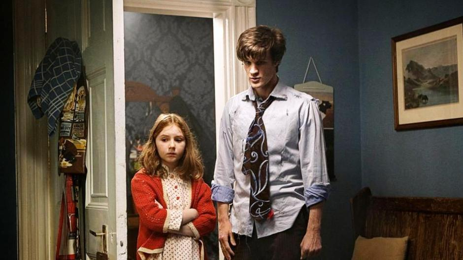 Little Amelia Pond and the Raggedy Doctor.