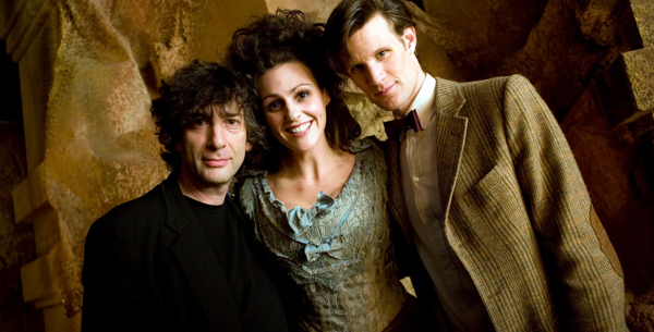 Neil Gaiman, Suranne Jones and Matt Smith.