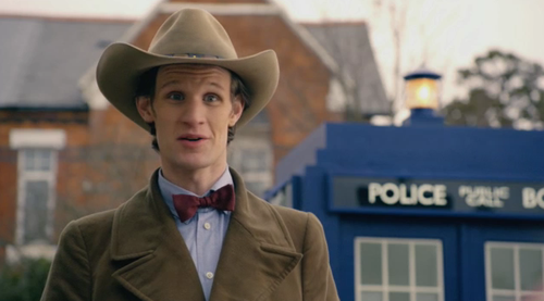 The Doctor gets ready to visit America.