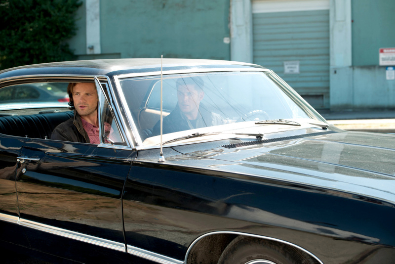 The Winchesters in the Impala. Just as it should be.