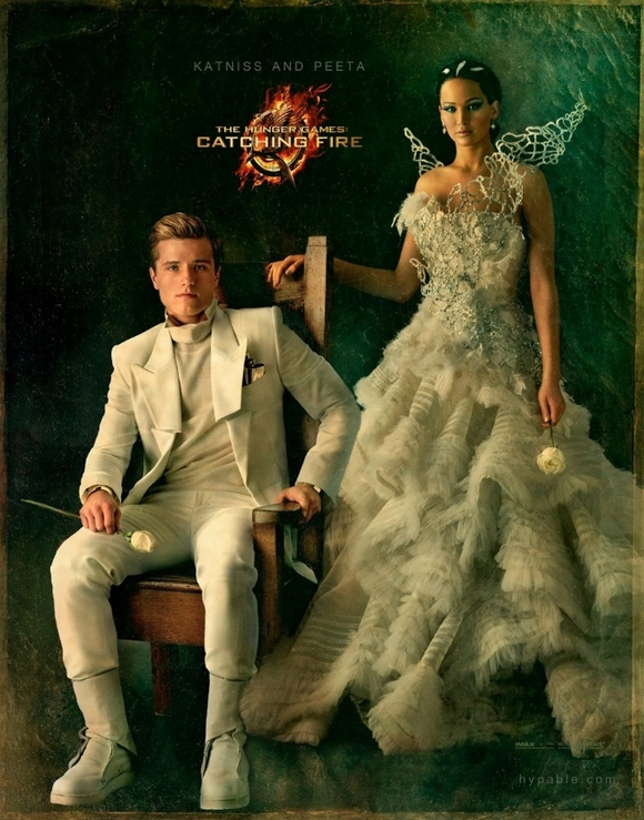 Peeta and Katniss, Catching Fire.