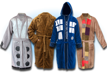 Official BBC Doctor Who bathrobes, $37-60