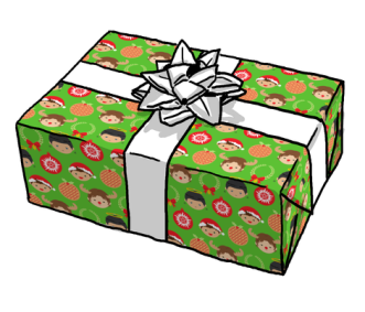 A Very Supernatural Christmas gift wrap, Spoonflower, $15