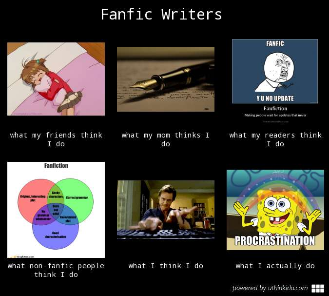 writing fanfiction This article may seem a bit unorthodox, but i think it's worth writing fanfiction doesn't seem to have the best reputation on the surface, reading/writing it may seem like just a good way to pass the time when you have nothing else to do.
