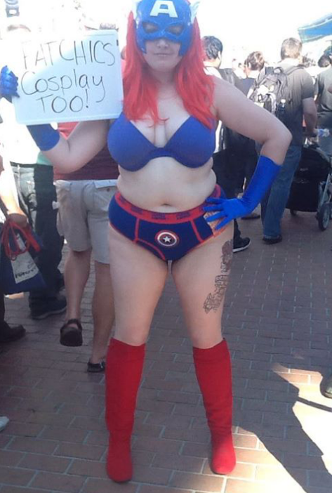 Chubby cosplay girls
