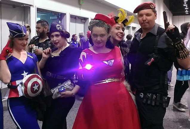 Femme!Avengers with a 50s flair.