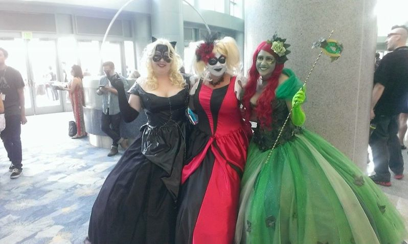 Ballgown wearing DC characters looking fabulous.