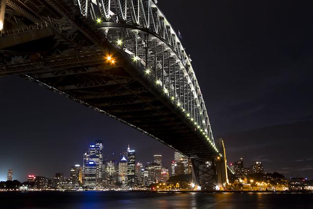 Sydney Harbour Bridge and Skyline by Dave Manwell