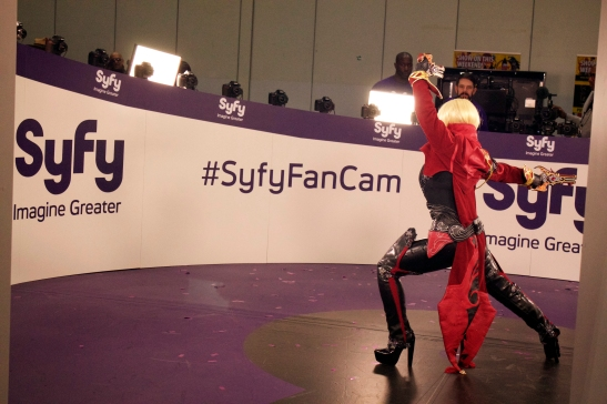 Yaya Han in the Syfy Fan Cam