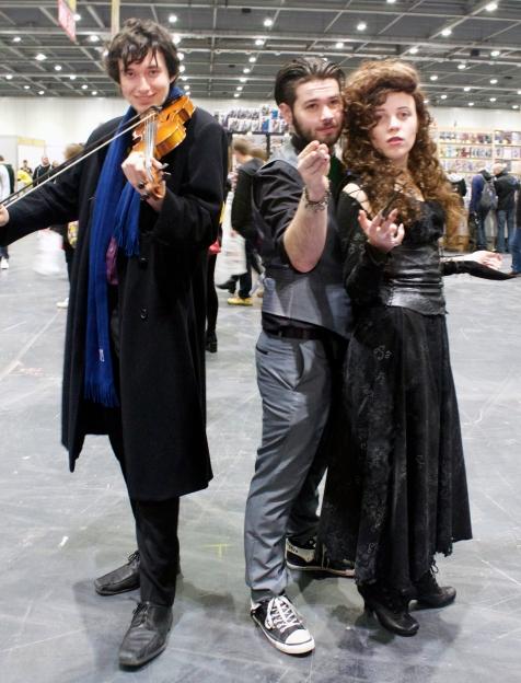 Sherlock, Bellatrix, and a Death Eater