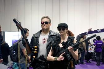 The Terminator and Sarah Conner