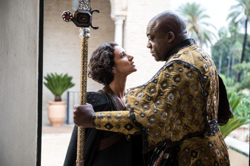 Indira-Varma-as-Ellaria-Sand-and-Deobia-Opaeri-as-Areo-Hotah_-photo-Macall-B.-Polay_HBO