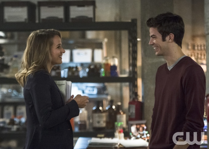 "The Flash -- ""The Fury of Firestorm"" -- Image FLA204A_0007b  -- Pictured (L-R): Shantel VanSanten as Patty Spivot and Grant Gustin as Barry Allen -- Photo: Cate Cameron /The CW -- © 2015 The CW Network, LLC. All rights reserved."