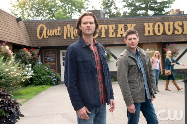 "Supernatural — ""Baby"" — Image SN1104A_0045.jpg — Pictured (L-R): Jared Padalecki as Sam and Jensen Ackles as Dean — Photo: Diyah Pera /The CW — © 2015 The CW Network, LLC. All Rights Reserved."