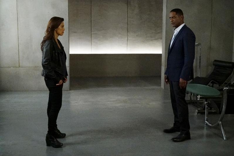 "MARVEL'S AGENTS OF S.H.I.E.L.D. - ""Chaos Theory"" - As Daisy and the team fight to protect Inhumans, S.H.I.E.L.D. discovers the shocking truth about one of their biggest foes. Meanwhile, Fitz helps Simmons recover information that could lead them back through the portal, on ""Marvel's Agents of S.H.I.E.L.D.,"" TUESDAY, NOVEMBER 10 (9:00-10:00 p.m., ET) on the ABC Television Network. (ABC/Byron Cohen) MING-NA WEN, BLAIR UNDERWOOD"