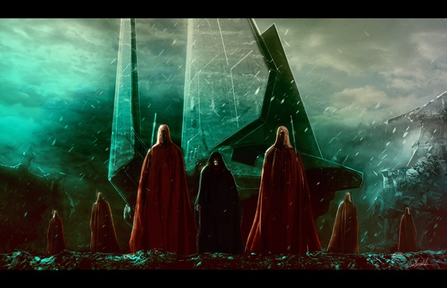 Palpatine and the Royal Guards by LivioRamondelli on DeviantArt. Posted with permission of the artist.