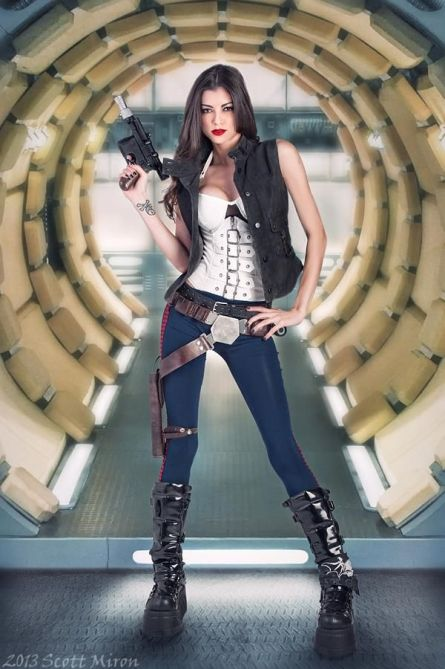 Model: VAMPTRESS LeeAnna Vamp as Han Solo MUA/Hair: LeeAnna Vamp Styling: LeeAnna Vamp Copyright 2013 Scott Miron