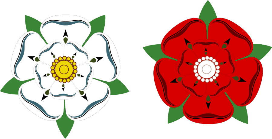 The White Rose of and the Red Rose of