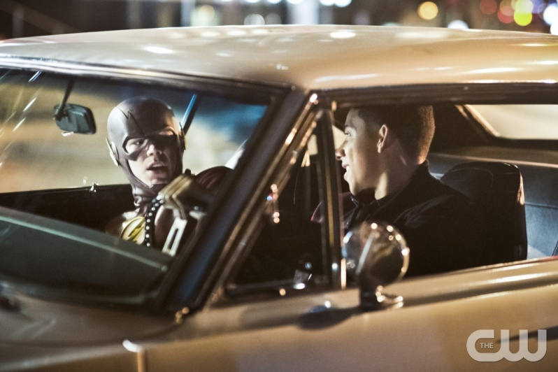 "The Flash -- ""Invincible"" -- Image: FLA222a_0399b.jpg -- Pictured (L-R): Grant Gustin as The Flash and Keiynan Lonsdale as Wally West -- Photo: Dean Buscher/The CW -- © 2016 The CW Network, LLC. All rights reserved."