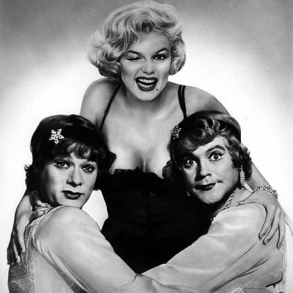 Tony Curtis, Marilyn Monroe, and Jack Lemmon