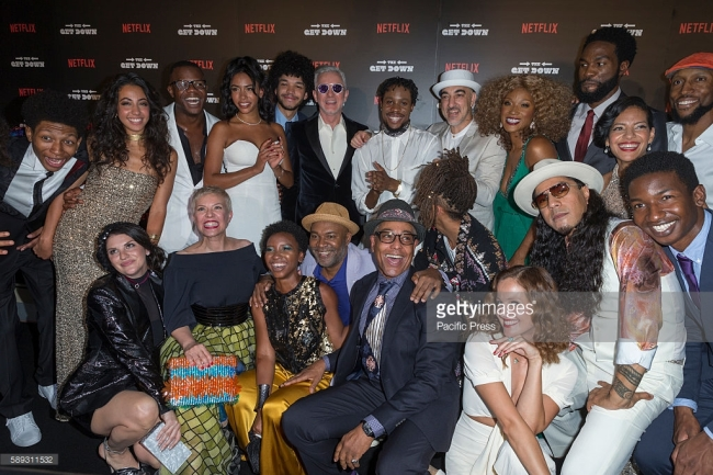 Cast and crew attend The Get Down Netflix original series premier at Lehman Center for performing arts in the Bronx. PC: Lev Radin/Pacific Press/LightRocket