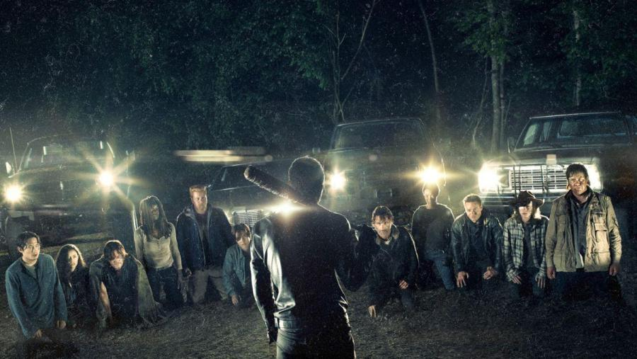 walking-dead-cast-kneel