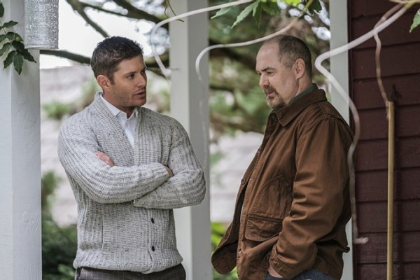 "Supernatural -- ""American Nightmare"" -- SN1204a_0054.jpg -- Pictured (L-R): Jensen Ackles as Dean and William MacDonald as Abraham Peterson -- Photo: Robert Falconer/The CW -- © 2016 The CW Network, LLC. All Rights Reserved"