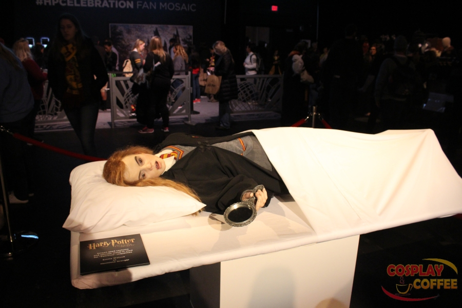 """Screen used costume and silicone stand-in used for ""Petrified"" sequences. Emma Watson as Hermione Granger"""