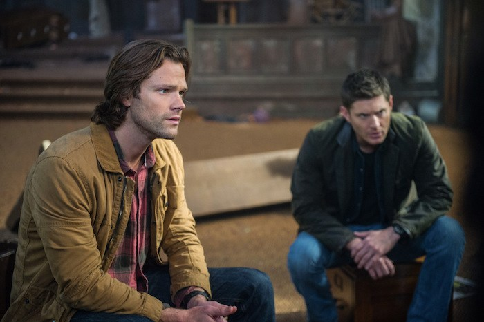 "Supernatural --""Lily Sunder Has Some Regrets""-- SN1210b_0161.jpg -- Pictured (L-R): Jared Padalecki as Sam and Jensen Ackles as Dean -- Photo: Diyah Pera/The CW -- © 2017 The CW Network, LLC. All Rights Reserved"
