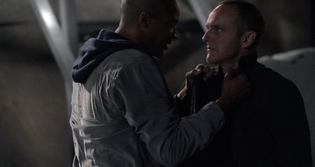 Fake Mike and Coulson