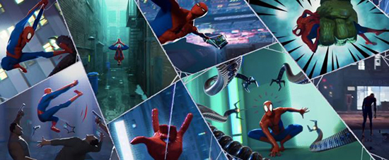 Into the Spider-Verse Comic Panels